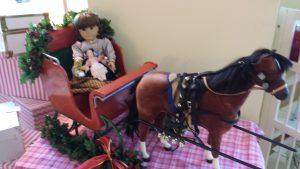 Samantha in her sleigh