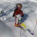 Dolls skiing on the slopes
