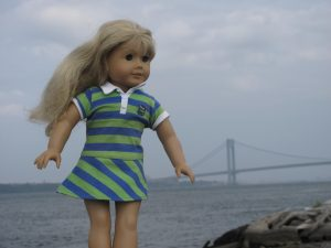 Doll at the Verizano bridge