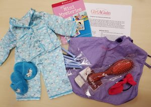 hair care kit with pajamas and book