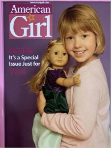 Melaine and doll on AG magazine